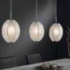 Lampa wisząca 3L ręcznie wykonane szkło