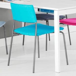 Krzesło materiałowe kobaltowy