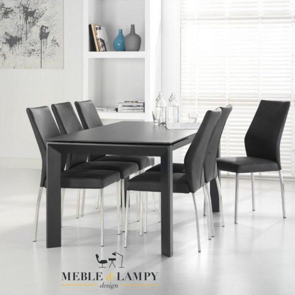 Stół rozkładany 180(230)x90cm szklany szary mat