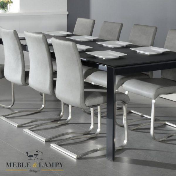 Stół rozsuwany 180(230)x90cm szklany szary mat