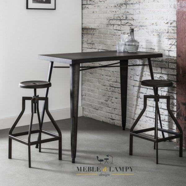 Stół barowy 120x60cm Gunmetal Bistro