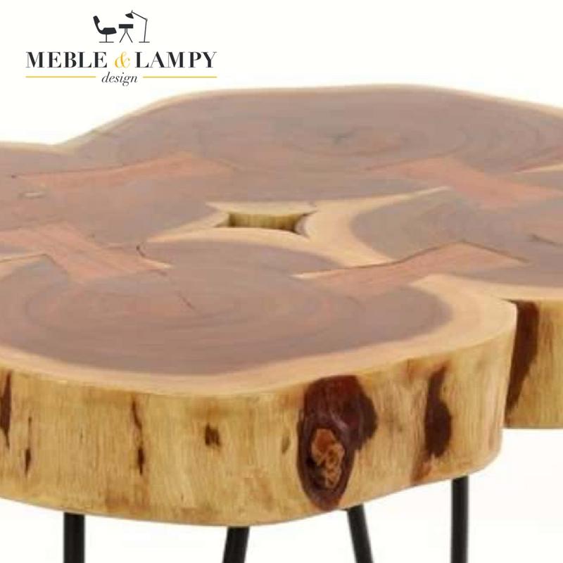 Stolik 50x50 cm akacja lite drewno 4x4