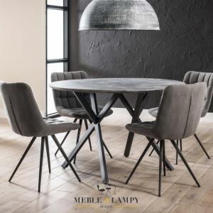 Stół okrągły Ø120cm betonowa okleina 3D