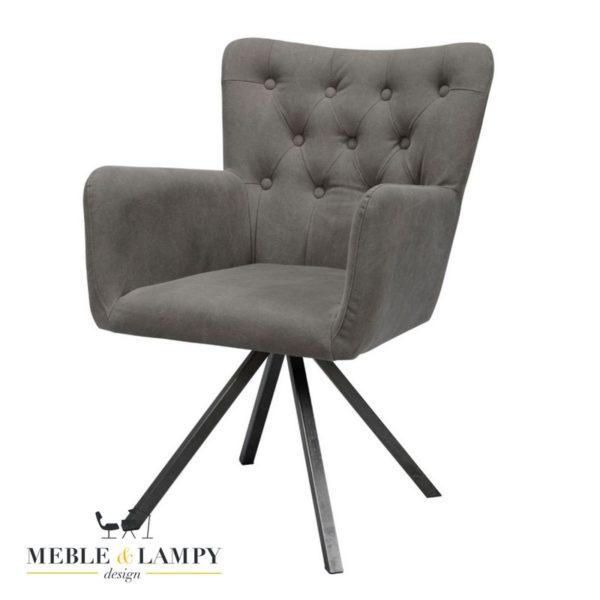 Fotel/Krzesło CUVES Vintage jeans antracyt