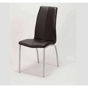 Krzesło eko-skóra czarne obicie