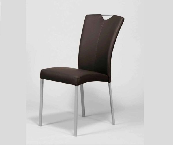 Krzesło eko-skóra czarne V