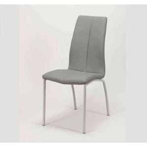 Krzesło eko-skóra szare