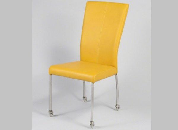 Krzesło na kółkach Buffelo kolor musztardowy