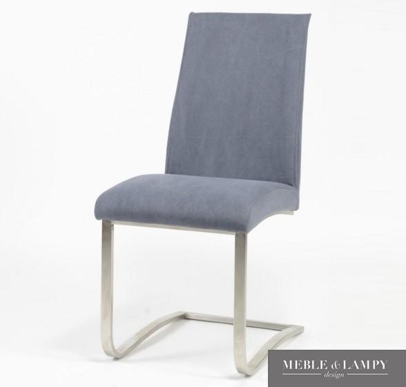 Krzesło na płozie z obiciem Jeans