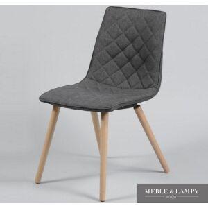 Krzesło tkanina kolor antracytowy