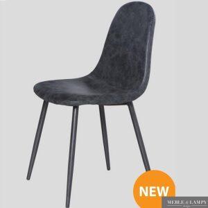 Krzesło vintage Wax eko-skóra czarna
