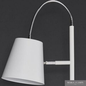 Lampa podłogowa 1L biała metal flex