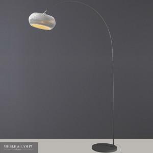 Lampa podłogowa 1L Carta wygięta biała