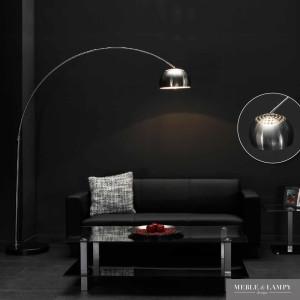 Lampa podłogowa 1L z  wysięgnikiem łukowym