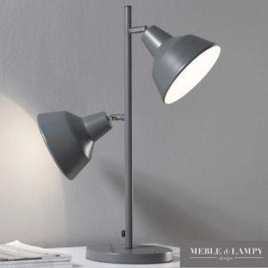 Lampa stołowa 2L szara