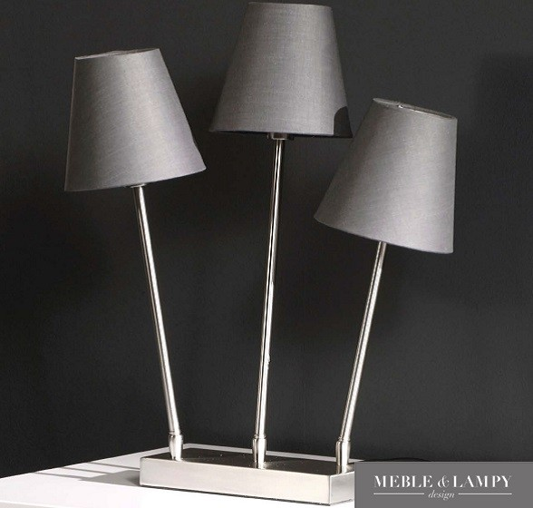 Lampa stołowa 3L szara regulowana