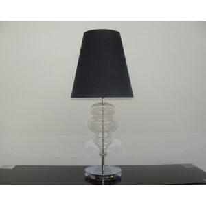 Lampa stołowa szkło czarna