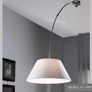 Lampa sufitowa biała łukowa