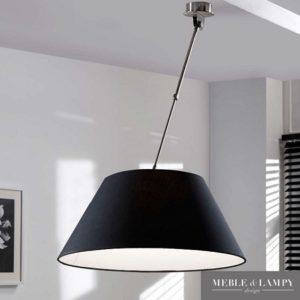 Lampa sufitowa czarna prosta