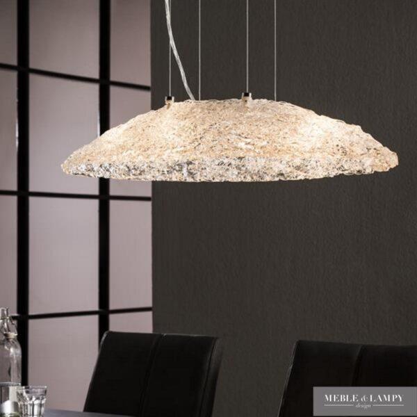 Lampa wisząca 4L ręcznie rzeźbione szkło