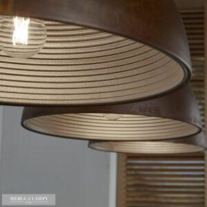 Lampa wisząca 3L aged iron Ø40cm - alu wewnątrz