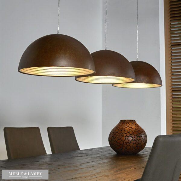 Lampa wisząca 3L aged iron Ø40cm – alu wewnątrz