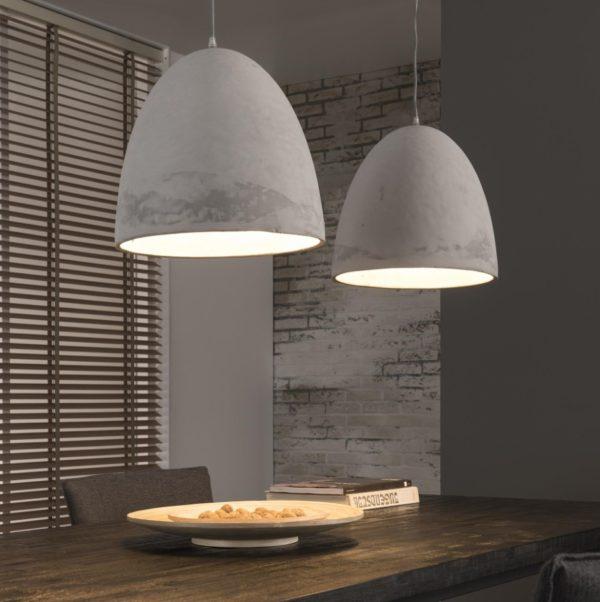 Lampa wisząca CONCRE – betonowe klosze Ø38cm