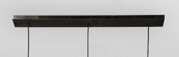 Lampa wisząca Mesh z półkolistą siatkową osłoną 3 x Ø36