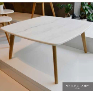 Ława 80x80cm biały marmur