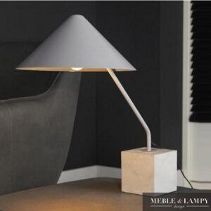 Lampa stołowa szara stal/beton
