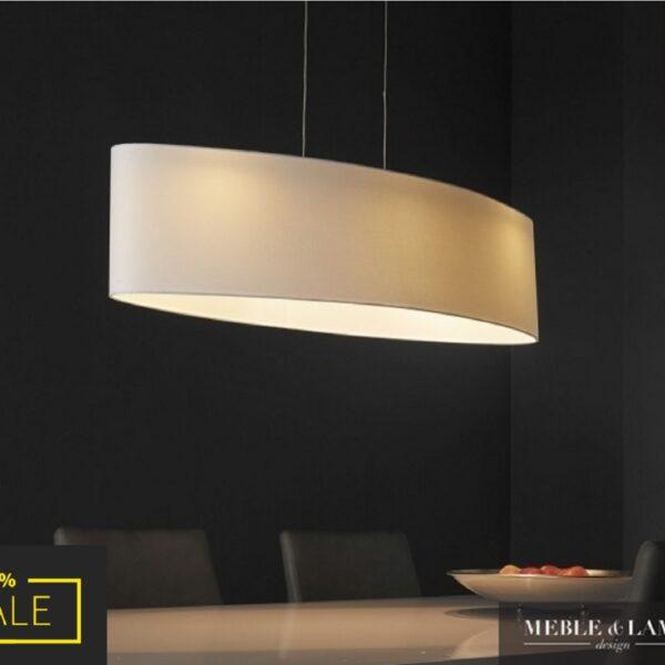 Lampa wisząca 3L LED biały klosz ROUND