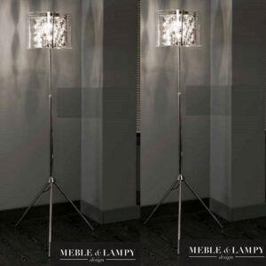 Lampa podłogowa Shade szkło/chrom