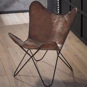 Skórzany fotel - MOTYL