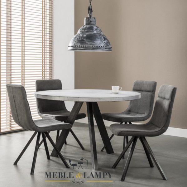 Okrągły stół betonowy o średnicy Ø120 czarny RVS