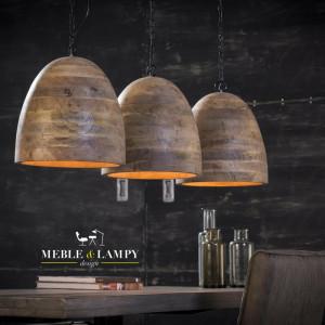 Lampa wisząca 3xØ30 Mango wood