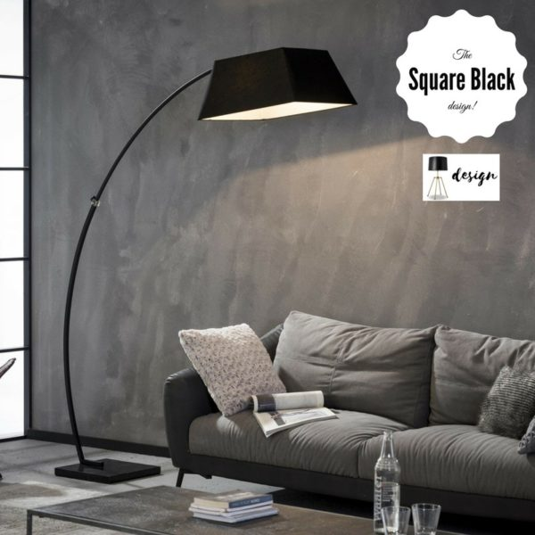 Lampa podłogowa XXL The Square Black design