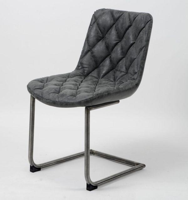 Eleganckie krzesło GRID w pikowaną kratę czarne