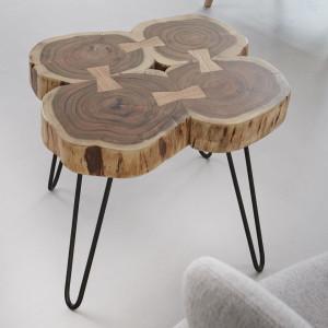 Drewno Akacja, stoliki