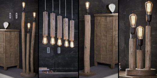 Lampy z drewna Eukaliptusowego