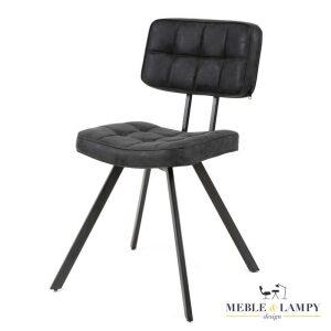 Krzesło KRUIS BLACK eco lether LUX