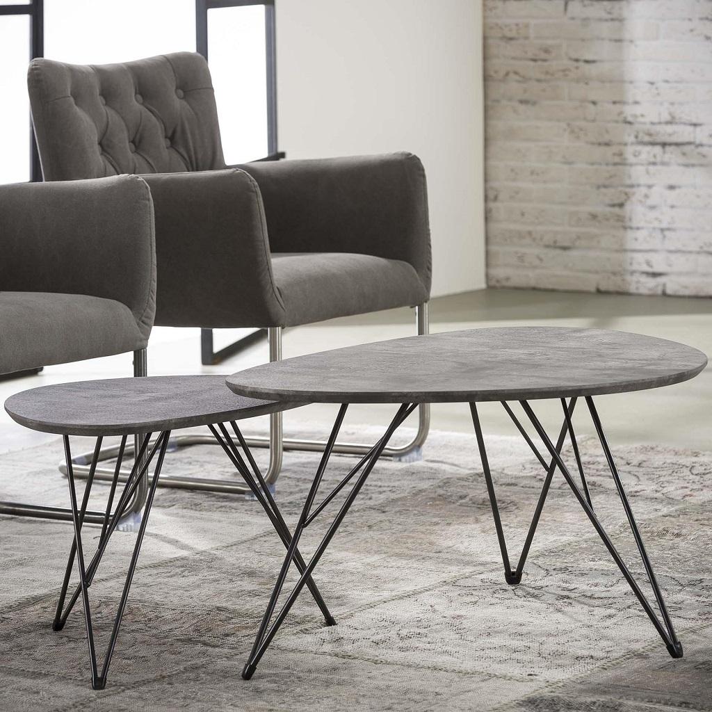 Stolik 90x60cm tekstura 3D betonu