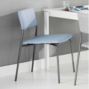 Krzesło materiałowe niebieski