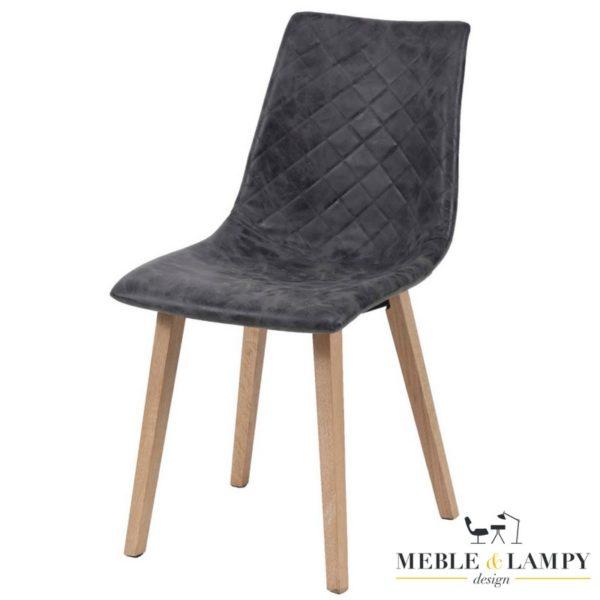 Krzesło RUIT BLACK pikowane