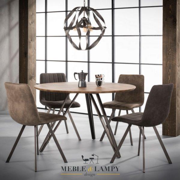 Stół okrągły SCANDYNAVSKI Ø120cm V-nogi