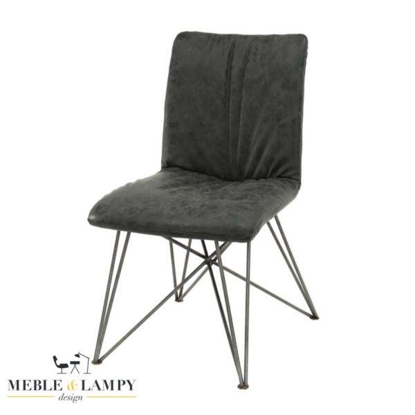 Krzesło SHAR PEI lux eko skóra-czarne