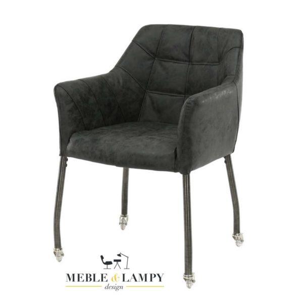 Krzesło/Fotel CHILLOUT na kółkach czarny