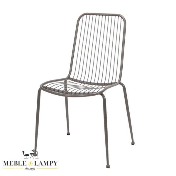 Krzesło z metalowego drutu PARIS