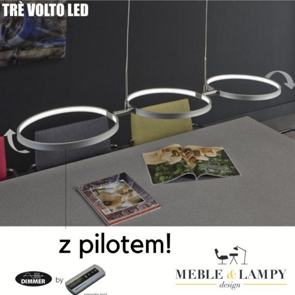 Lampa wisząca 3L TRE VOLTO LED z pilotem