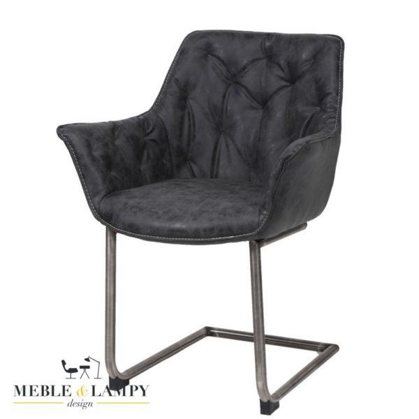 Krzesło/Fotel WING na płozie RVS - czarny