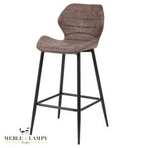 Krzesło barowe/Hoker wyprofilowane siedzisko - brązowy